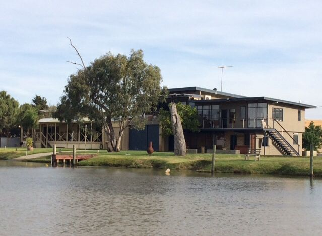 Our house from river