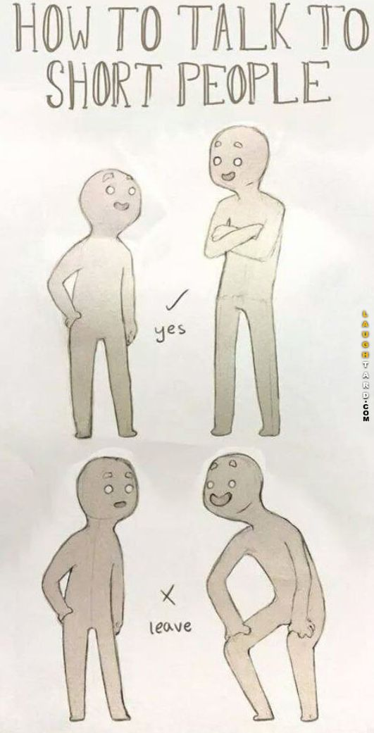 Talking to short people
