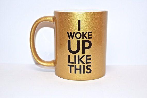 Je me suis réveillé comme ce Chope d'or par theprintedsurface, $15.00