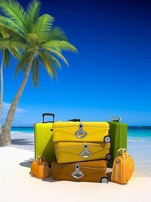 quans je pars en vacances, dans ma valise je mets...