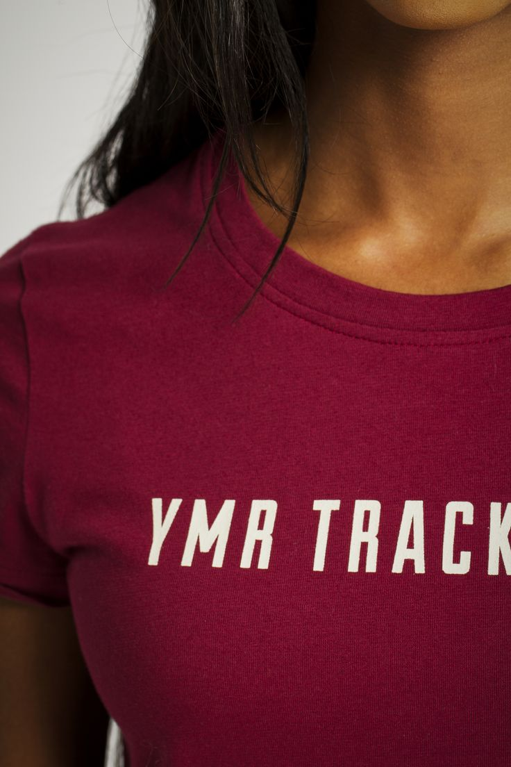 The Yes She Can T-shirt from YMR Track Club is available in winered, green, white and grey melange.