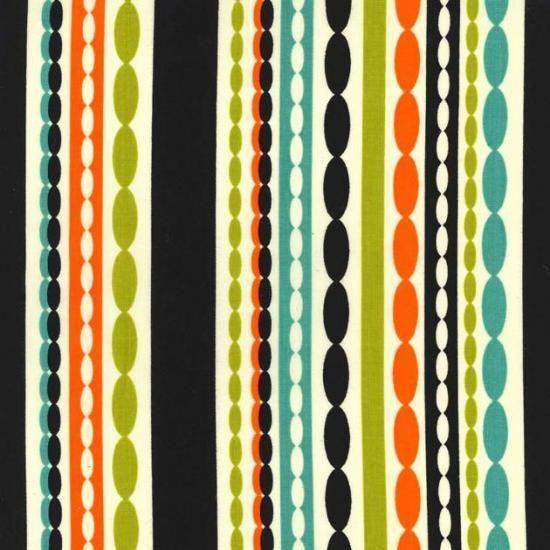 chain reaction ビーズカーテン柄 ヴニラカラー ファブリック生地 ミッドセンチュリー コットン100%シーチング - マイケルミラー 生地 ファブリック | キルト生地のマイケルミラー.jp
