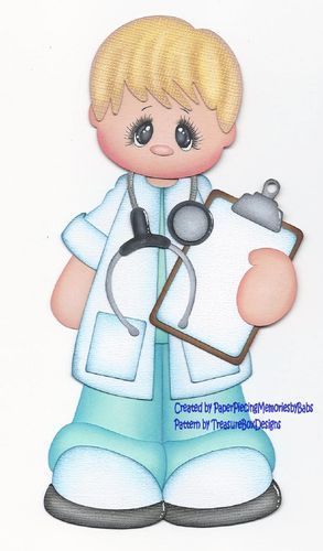 Premade Doctor Paper Piecing for Scrapbook Pages by Babs | eBay