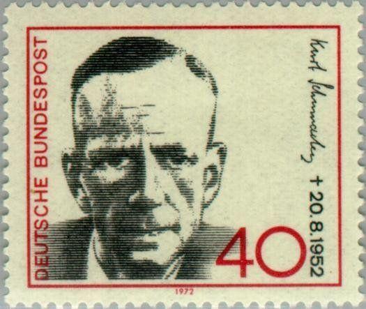 Kurt Schumacher (1895-1952), social democratic politician