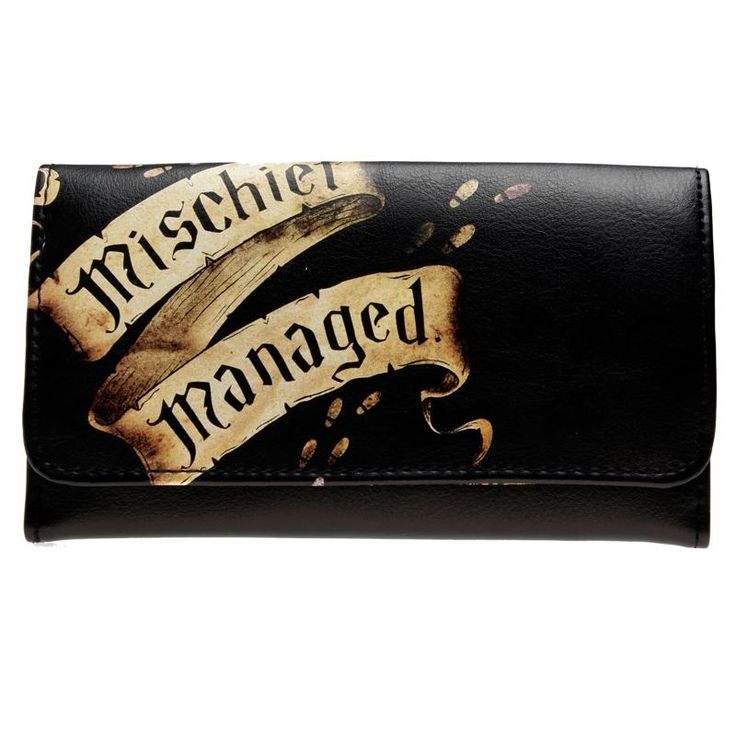 Harry Potter Marauder's Map Mischief Managed Flap Wallet DFT-1861