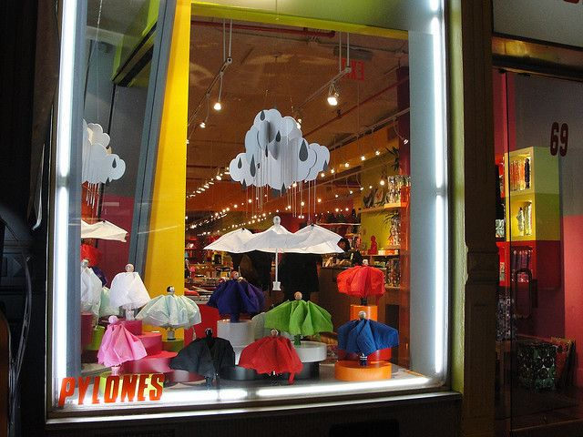 Pylones umbrellas, pinned by Ton van der Veer