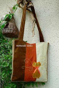 nemcsak táska: cicás táska - óvodai ballagási ajándék