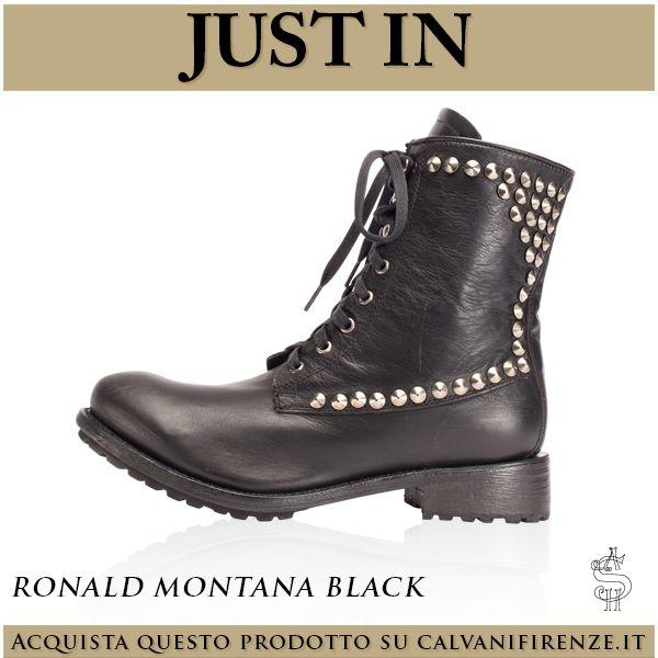 """Per un #uomo dallo #spirito #rocknroll gli #stivaletti """"#RonaldMontanaBlack"""" di #Ash sono la #scelta #perfetta. #Morbida #pelle #nera e #borchie #argentate per un #musthave #senzatempo."""