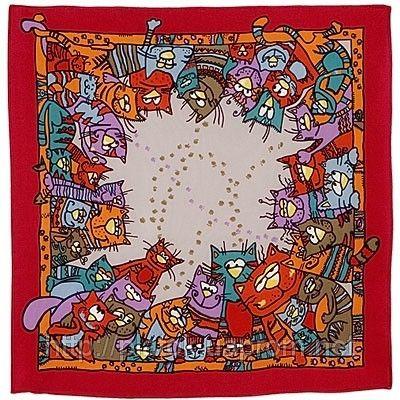 Мартовский 1085-5, павлопосадский шейный платок (крепдешин) шелковый с подрубкой, фото 1