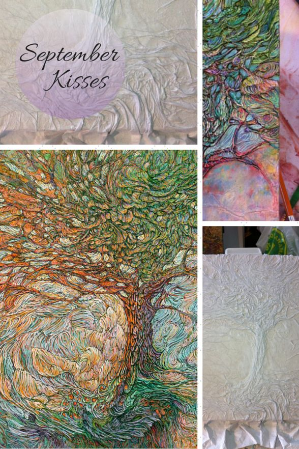 Featured Work - Paper Art by Col Mitchell - September Kisses - #tree