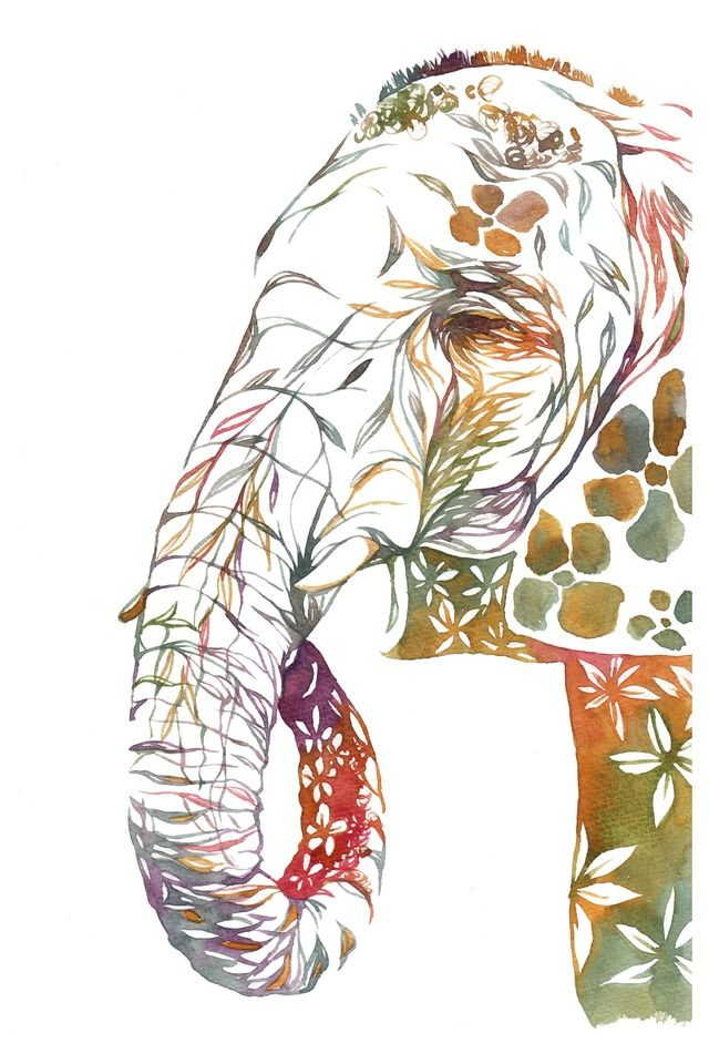*ゾウさん* by piroki アート・写真 イラスト | ハンドメイド、手作り作品の通販・販売サイト minne(ミンネ)