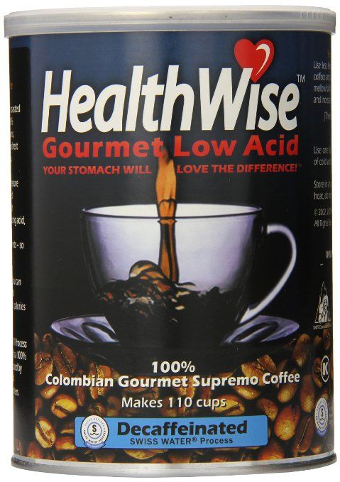 Healthwise Low Acid Columbian Gourmet Supremo Decaffeinated Coffee, 12 Ounce