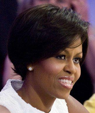 Michelle Obama's Short Hairstyles