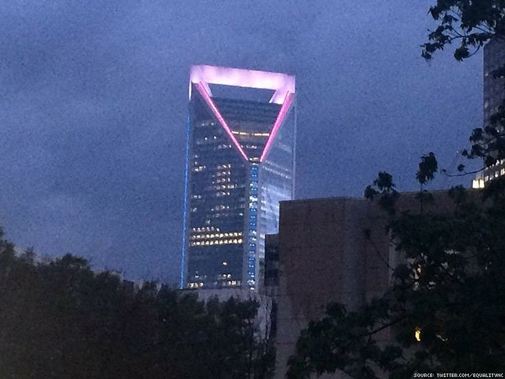 We love our friends at Wells Fargo! They Lit Their N.C. Building For Transgender Day of Visibility