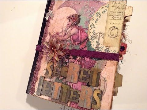 Altered Composition Book transformed - part 1 - into a Vintage Junk Journal - Flip through - YouTube