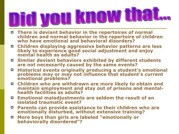 emotional disorder behavior essay Defining emotional and behavioral disorders in order to move forward clinically or in research to address the problem of emotional and behavior disorders one must first have a solid definitive grasp on the nature of the problem and what it ultimately is, definitionally.