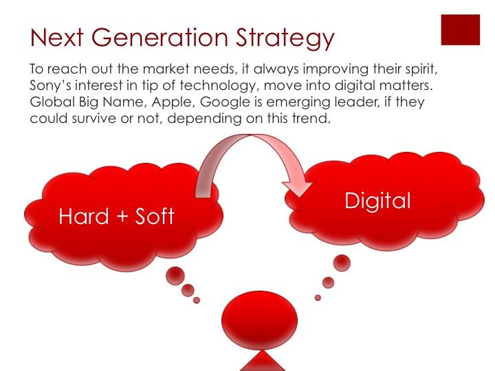 sony marketing strategy case study In the case of sony's marketing mix, these strategies and tactics are based on the conditions of the global consumer electronics, gaming, entertainment and financial services markets the company's diverse business operations require complex considerations in developing the marketing mix.
