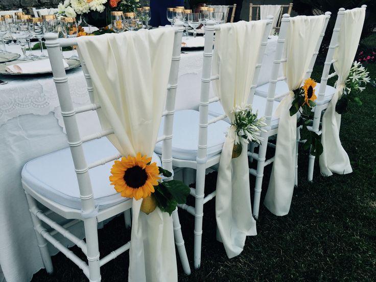 Wedding Day, white chairs, Villa Minuta, Scala, White, Yellow and Orange colors, Olga Studio, Sposa Mediterranea, Federica wedding Planner