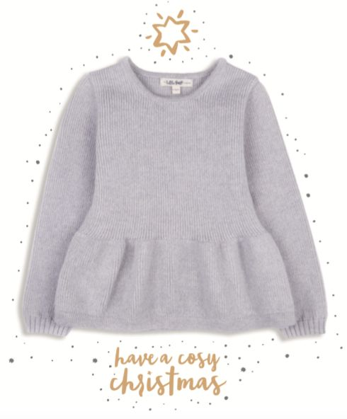 Have a cosy Christmas with our pretty peplum jumper, available in soft grey and coral pink. 100% highest quality & softest Scottish lambswool. An heirloom gift.