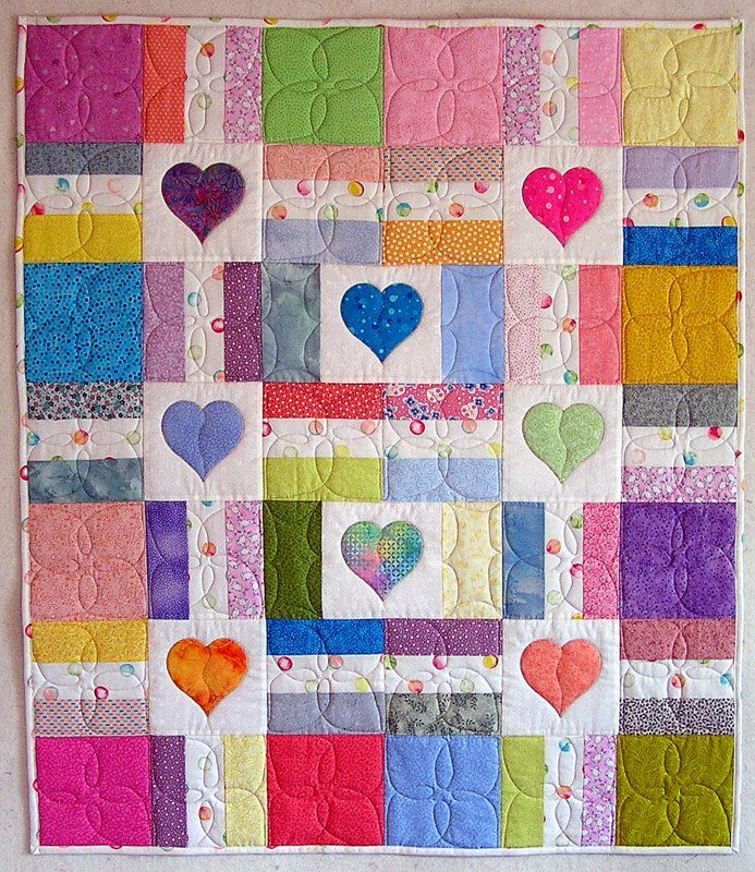 This could be the prettiest baby quilt I've seen to date.I love it!