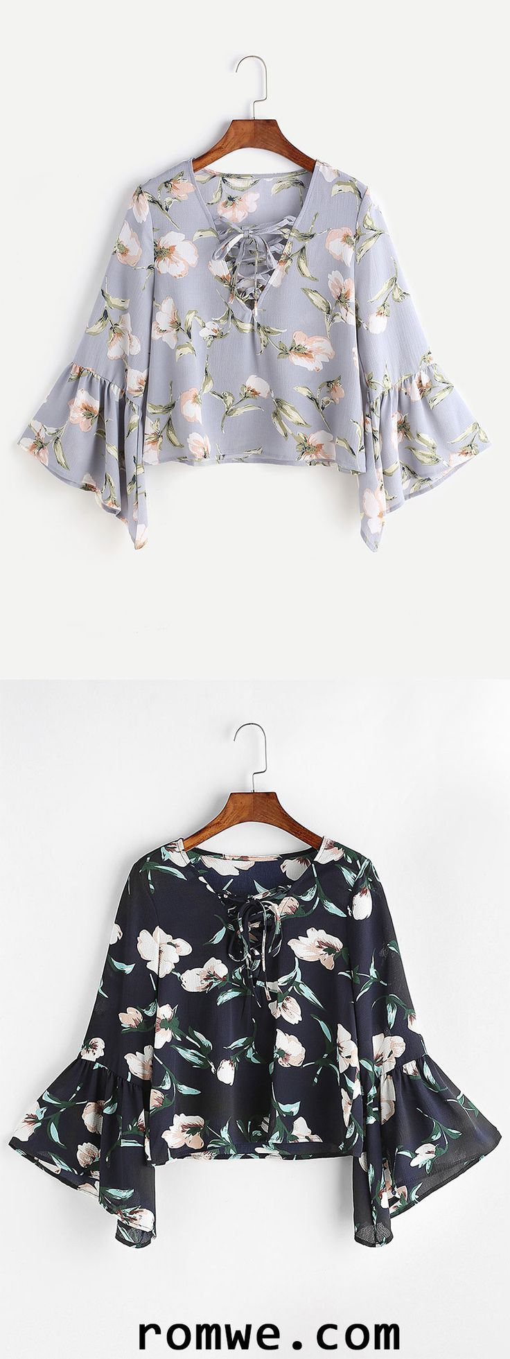 I have a blouse like the light grey, and love it.  Feminine and fits nice. https://bellanblue.com