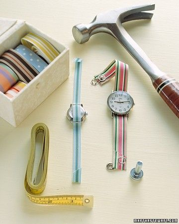 You don't have to spend a cent on a new leather watch strap; just replace a broken or worn-out watchband with grosgrain ribbon.