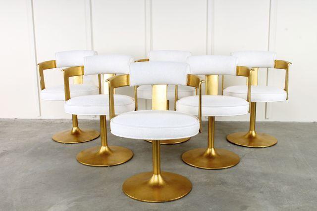 Karl Springer 24k Gold Leaf Onassis Chair