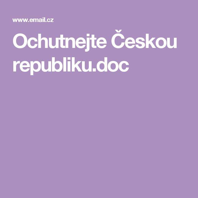 Ochutnejte Českou republiku.doc