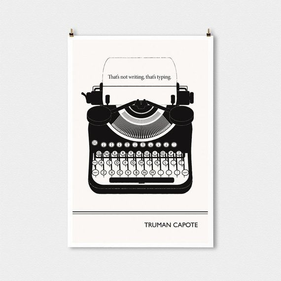 Literary Art Print Truman Capote Large Wall Art by ObviousState