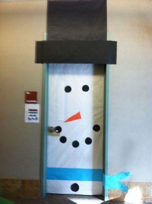 winter snowman door, inspired by the scarecrow door! So cute for the kids room!! by sonja