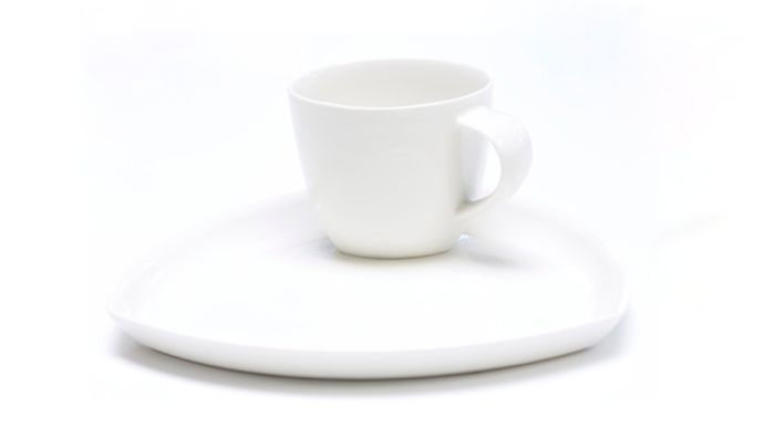 Amfora Coffee Cup With Saucer