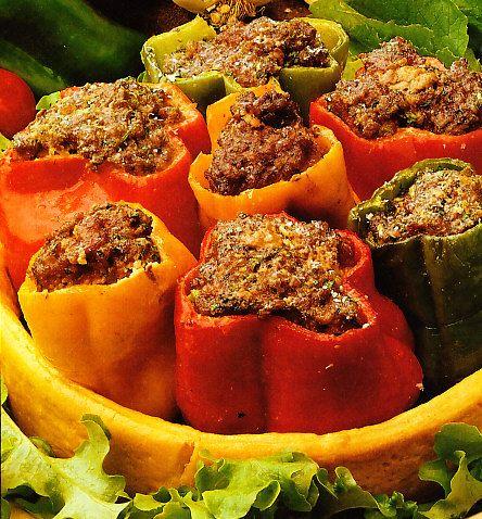 Pimientos rellenos a la parrilla by www.vinosyrecetas.com