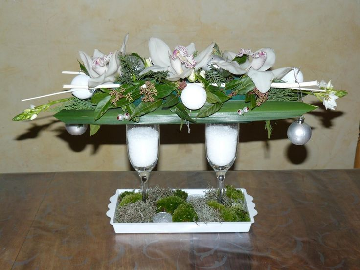 1000 ideas about art floral noel on pinterest l 39 avent - Art floral moderne centre de table ...
