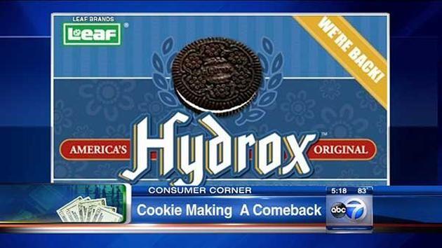 Hydrox Cookies by Leaf Brands.