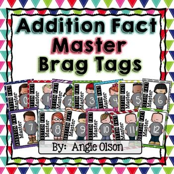 Addition Master Brag Tags are the perfect motivating incentives to get your…