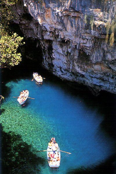 Lago sotterraneo - Cefalonia, Grecia