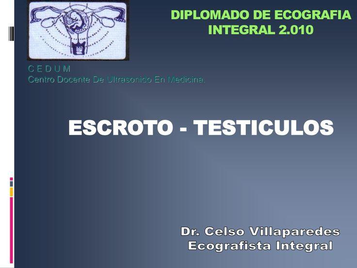 Ecografia escroto y testiculo  by Celso Villaparedes via slideshare