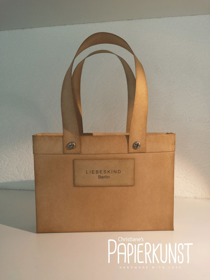 Handtasche, Kraftpapier, Liebeskind, Stampin up, Christiane´s Papierkunst