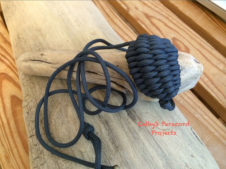 Rock sling made out of 550 made in the usa paracord for Paracord rock sling