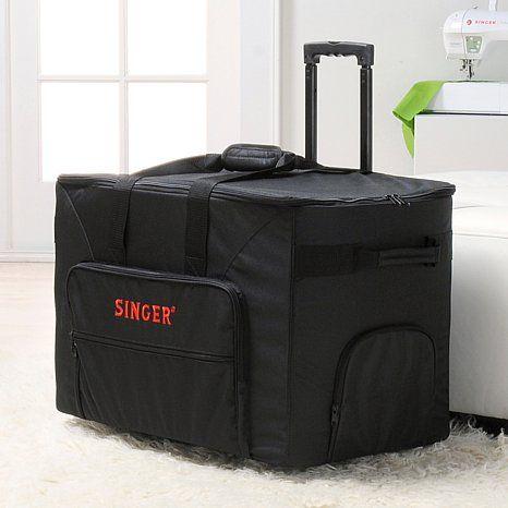 singer futura rolling sewing machine bag