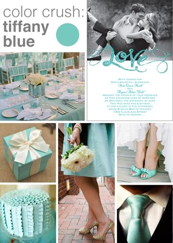 Style board inspiration: Color crush - Tiffany blue - Advice and Ideas | Invitations By Dawn