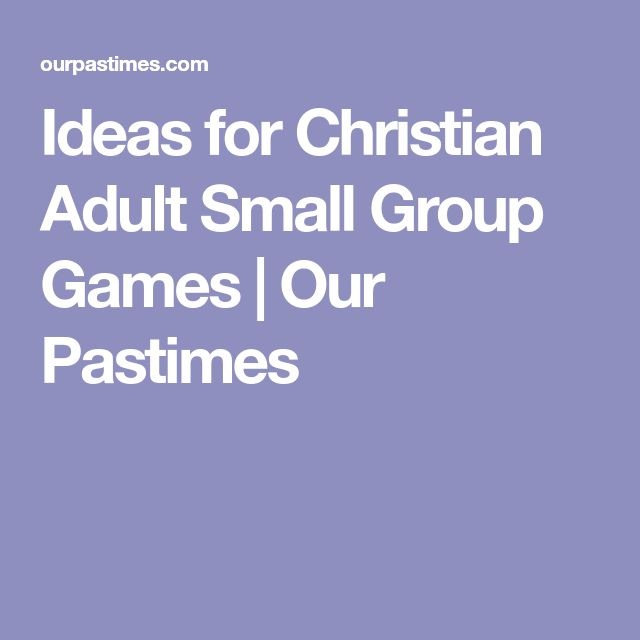 christian-adult-group-games
