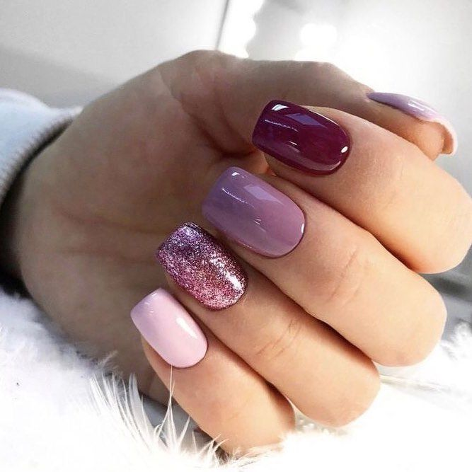 "PINK NAIL SALON on Instagram: ""Colores lindos para 🍂 otoño Citas ☎️ 3…."