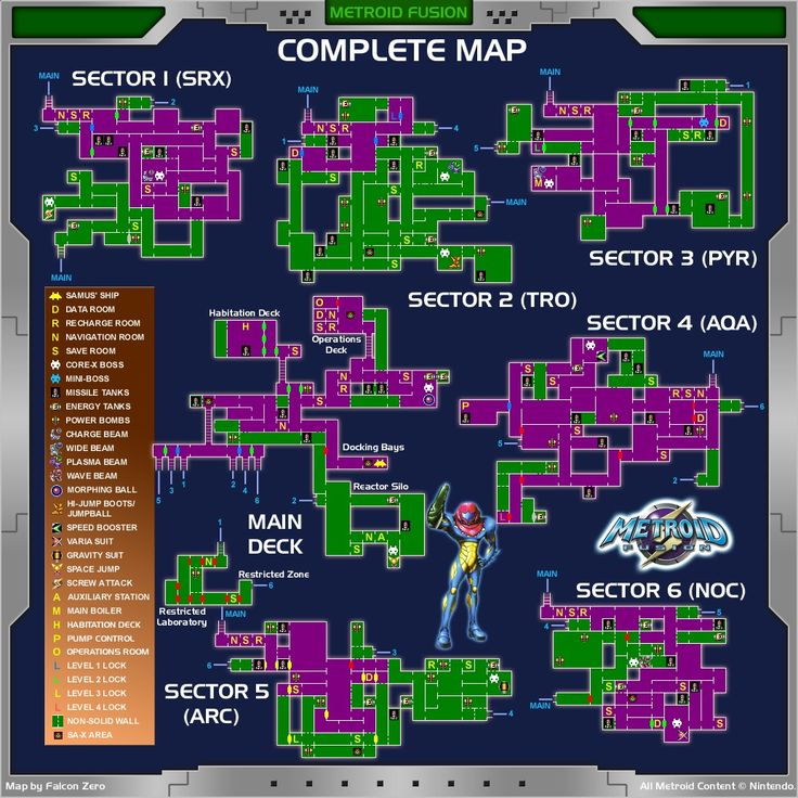 Metroid fusion map                                                       …
