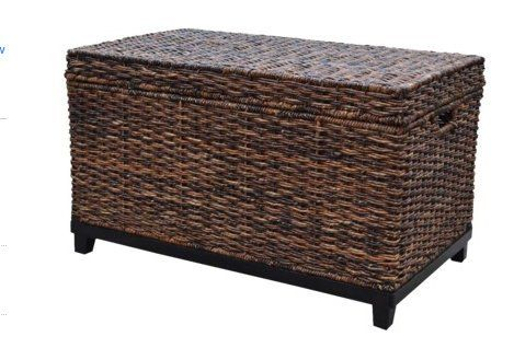 Brown Wicker Trunk Coffee Table