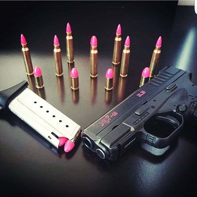 Customized 9mm bullets and 223 rounds my baby that xds #ammo #223 #girls #shooting #girlswhoshoot #hot #pewpew #girlsloveguns #guns #9mm #xds #2ndamendment