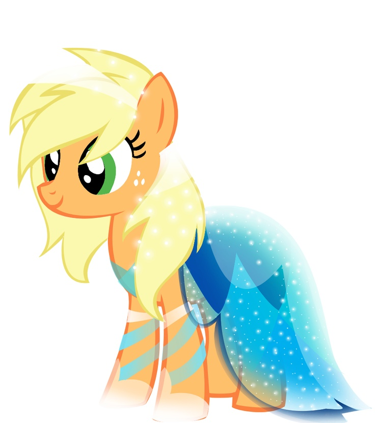 apple jack gala dress my little pony pinterest gala