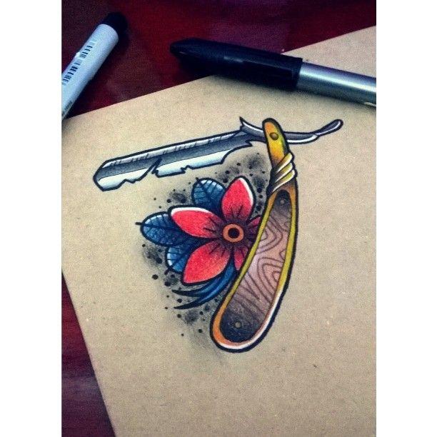 Tattoo Meaning Razor: 36 Best Hot Rod/Dad/Razor Tattoos Images On Pinterest