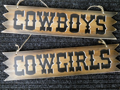 19 Quot Cowboys Cowgirls Rustic Western Sign For Ranch Farm