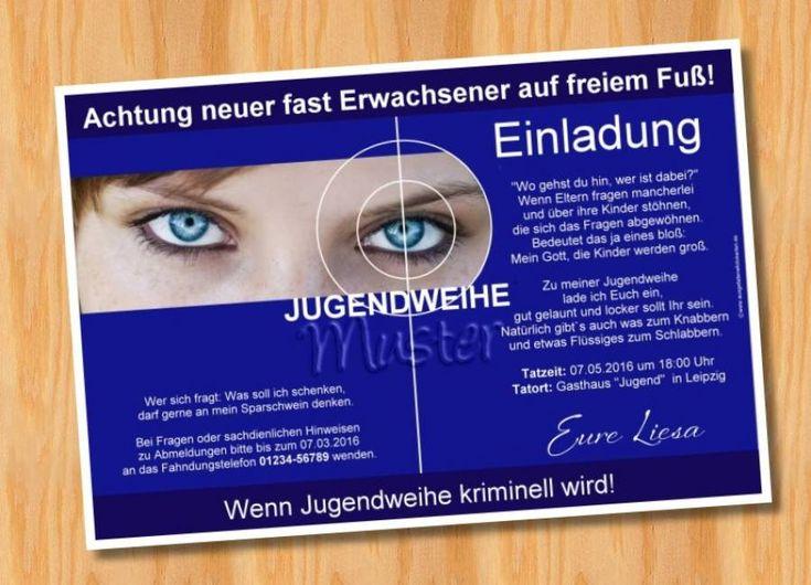 Einladung Einladungskarten Jugendweihe originelle 66 - Bild vergrößern
